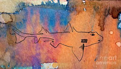 Shark Cruising Poster by R Kyllo