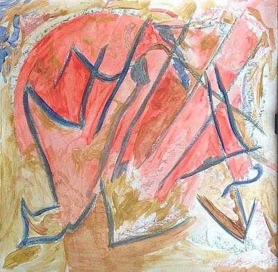 Poster featuring the painting Shattered Heart by Patricia Cleasby