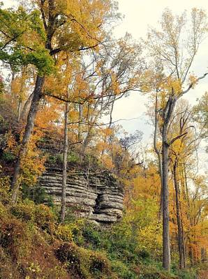 Shawee Bluff In Fall Poster by Marty Koch