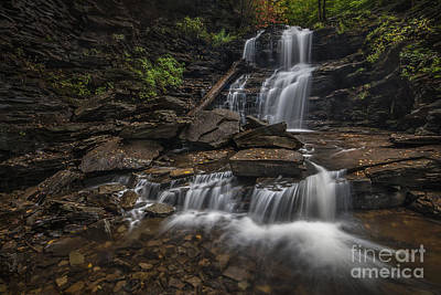 Poster featuring the photograph Shawnee Falls by Roman Kurywczak