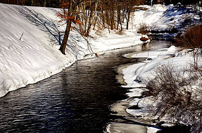 Shawsheen River Poster by Tricia Marchlik
