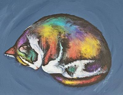 She Purrs In Color Poster by Beth Clark-McDonal