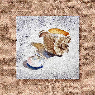 She Sells Sea Shells Decorative Collage Poster by Irina Sztukowski