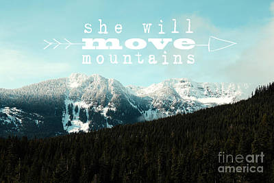 She Will Move Mountains Poster by Sylvia Cook
