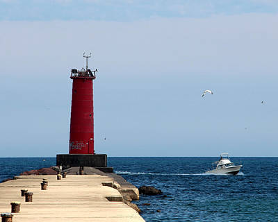 Sheboygan Breakwater Lighthouse Poster by George Jones