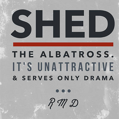 Shed The Albatross Poster by R Michael Davies