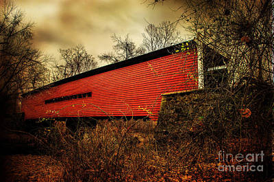 Sheeder Hall Covered Bridge 2 Poster