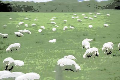 Sheep Poster by A K Dayton