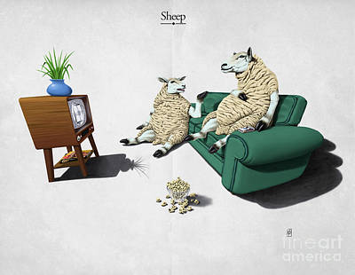 Sheep Poster by Rob Snow