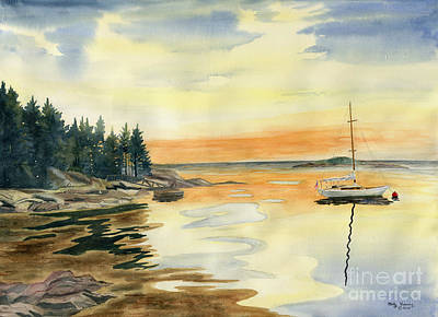 Sheepscot Bay - Southport Island Maine Poster by Melly Terpening