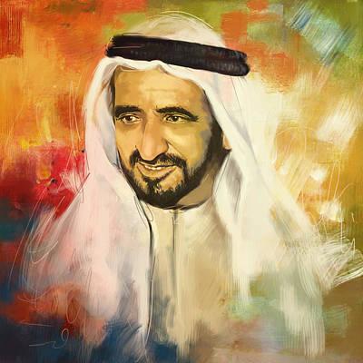 Sheikh Rashid Bin Saeed Al Maktoum Poster by Corporate Art Task Force