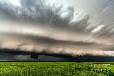 Shelf Cloud Over Wheat Fields Poster by Marko Korosec