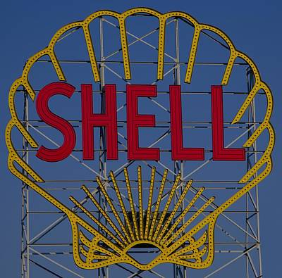 Shell Sign Cambridgeside Poster