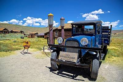 Shell Station In Bodie Poster