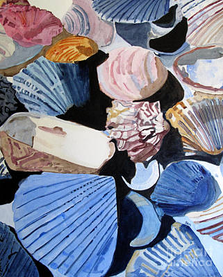 Shells At The Seashore Poster by Sandy McIntire