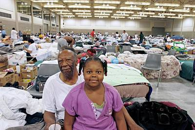 Shelter For Hurricane Katrina Survivors Poster by Jim West