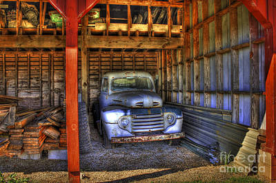 Shelter Me Old Ford Pickup Truck  Poster by Reid Callaway