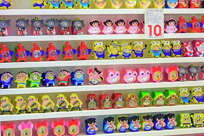 Shelves Of Children Toys, Shops Poster by Stuart Westmorland