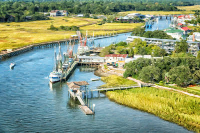 Shem Creek Aerial View Poster
