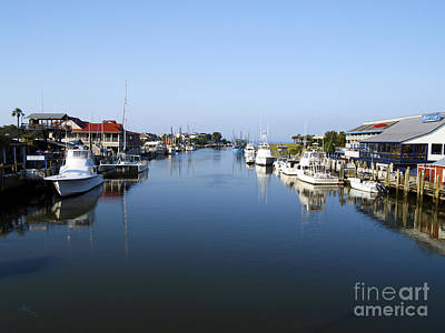 Shem Creek Mount Pleasant Charleston South Carolina Poster