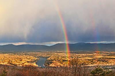 Shenandoah Valley Winter Rainbow Poster by Lara Ellis