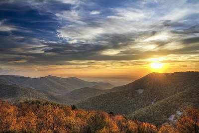 Shenandoah Virginia Sunset Poster by Pierre Leclerc Photography