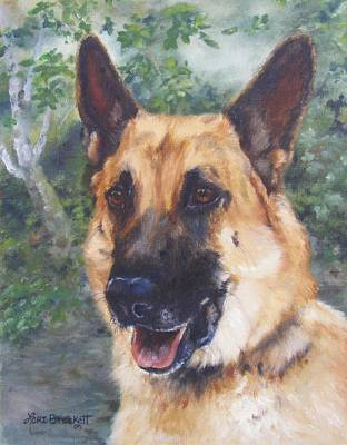 Poster featuring the painting Shep by Lori Brackett