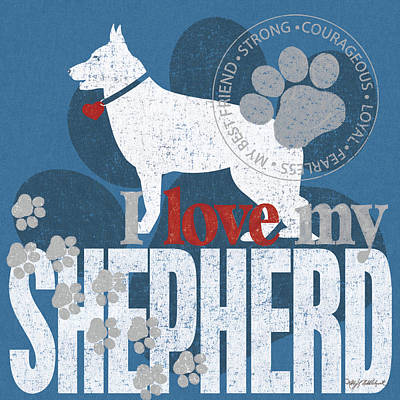 Shepherd Poster by Kathy Middlebrook