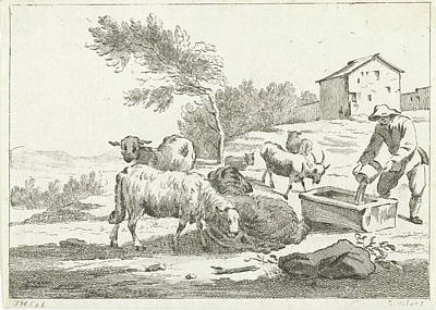 Shepherd With His Flock, Jan Matthias Cok Poster