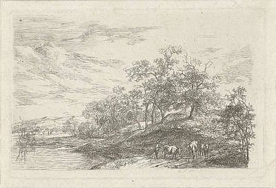 Shepherd With Three Cows, Print Maker Hermanus Fock Poster by Artokoloro