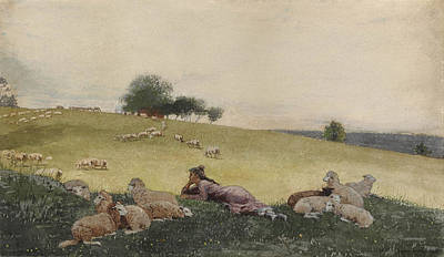 Shepherdess Of Houghton Farm  Poster by Celestial Images