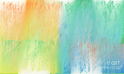 Sherbet Abstract Poster by Andee Design