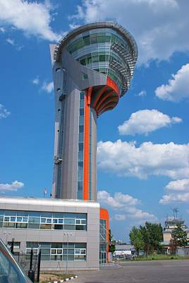 Sheremetyevo Control Tower Poster by Mark Williamson