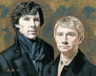 Sherlock And Watson Poster by Mariana Po
