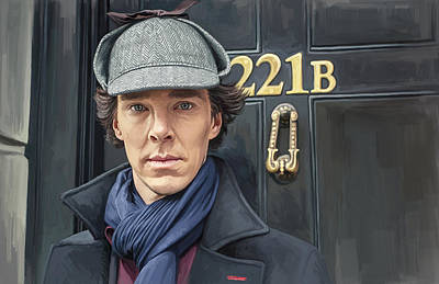 Poster featuring the painting Sherlock Holmes Artwork by Sheraz A