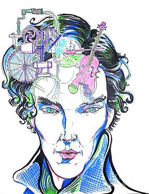 Sherlock Holmes' Brain Poster by Ilana Tavshunsky
