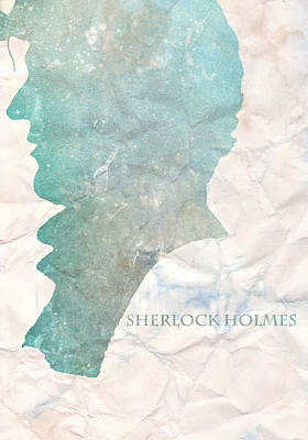 Sherlock Holmes On Paper Poster by Georgia Fowler