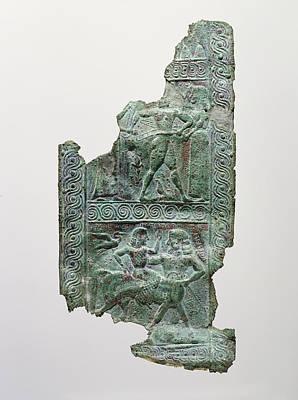 Shield Strap Fragment Signed By Aristodamos Of Argos Poster