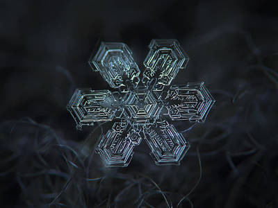 Snowflake Photo - Shine Poster by Alexey Kljatov
