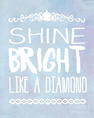 Shine Bright Blue Poster