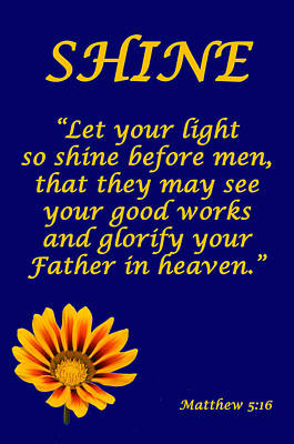 Shine Christian Poster Poster