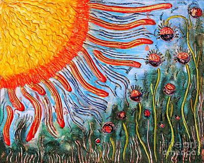 Shine On Me.. Poster by Jolanta Anna Karolska