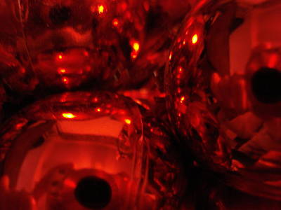 Shiney Red Ornaments One Poster