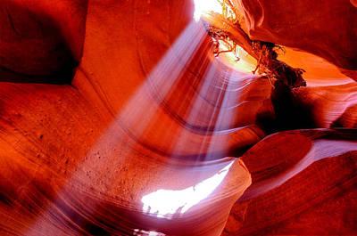 Shining Through - Antelope Canyon - Arizona Poster