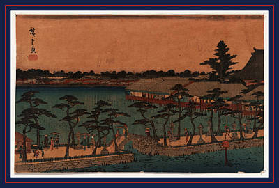 Shinobazu No Ike, Shinobazu Pond. Between 1836 And 1845 Poster by Utagawa Hiroshige Also And? Hiroshige (1797-1858), Japanese