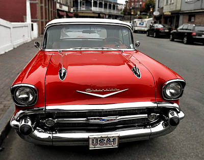 Shiny Red Chevrolet Poster