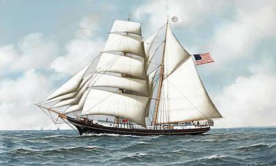 Ship Poster by Antonio Nicolo Gasparo Jacobsen