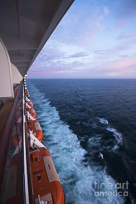 Ship Boats Sea Horizon Poster by Anne Gilbert