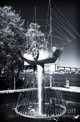 Ship Fountain Poster