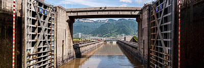 Ship Locks On Three Gorges Dam, Yangtze Poster by Panoramic Images